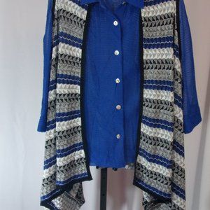 Waterfall Vest Multi Colors Size XL
